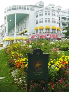 """Spent an amazing night here! Grand Hotel, Mackinac Island, MI """"A Moment in Time"""" (Christopher Reeve & Jane Seymour) was filmed here! Vacation Places, Vacation Spots, Places To Travel, Places To See, Mackinac Island Michigan, Lake Michigan, Wisconsin, Michigan Vacations, Michigan Travel"""