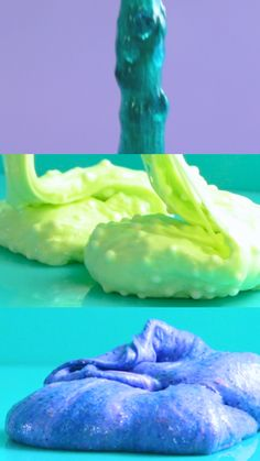 Have hours of fun with these colorful and oh-so-goopy textured slimes. Have hours of fun with these colorful and oh-so-goopy textured slimes. Fun Diy Crafts, Fun Crafts For Kids, Craft Activities For Kids, Diy For Kids, Slimy Slime, Foam Slime, Fluffy Slime Recipe, Easy Slime Recipe, Slime Sans Borax