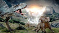 Walking with Dinosaurs wallpaper. (fantasy mountain movie walking with dinosaurs Dinosaur Wallpaper, Animal Wallpaper, Hd Wallpaper, Desktop Wallpapers, Walking With Dinosaurs, Cool Dinosaurs, Jurassic World Dinosaurs, Dinosaurs Images, Dinosaurs Live