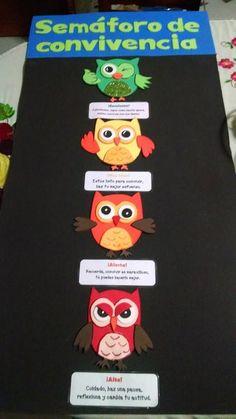 Convivencia Owl Classroom, Bilingual Classroom, Classroom Decor, Primary Teaching, Teaching Resources, Creative Class, Behaviour Chart, Class Decoration, Art Drawings For Kids