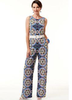 Butterick B6548 Misses' Jumpsuits #sewingpattern #easyseeandsew