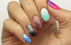 29 Gradient Nail Designs You Must Try - Fashion Star Gradient Nail Design, Nail Design Video, Gradient Nails, Blue Nails, Gel Nails, Nail Polish, Blue Nail Designs, Pretty Nail Designs, Sally Hansen