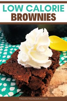 Are you trying to lose weight, but you are craving dessert? These Homemade Low Calorie Brownies will satisfy your sweet tooth without ruining your diet. This brownie recipe is only 37 calories per serving and is loaded with chocolatey goodness. Whether you are on a low or no sugar diet, Weight Watchers, or you have other health restrictions check out this low calorie dessert. #brownierecipes #brownierecipehomemade #browniesfromscratch #lowcaloriebrownies #lowcaloriedesserts…