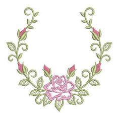 Delightful Rose embroidery design