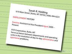 How to Make a Resume -- via wikiHow.com