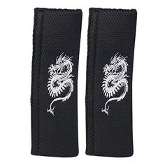 XtremeAuto� BLACK/GREY, DRAGON, Car Seat Belt Comfort Pad/Cover/Cushion For All Cars