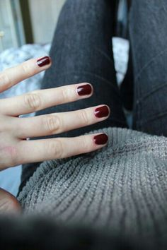 The nail color that goes with everything #oxblood #midnightblooms