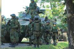 "Indonesian army 413rd Mechanized Infantry Battalion ""Bremoro"""