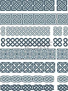 Éléments de conception de style celtique Stock Vector