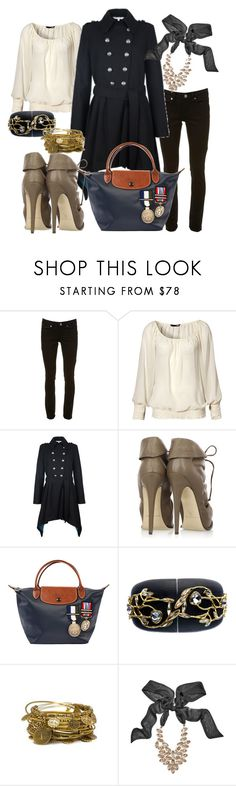"""""""Say hello to the Sergent Colonel Line by Longchamp"""" by velvy ❤ liked on Polyvore featuring Topshop, H&M, Red Herring, Brian Atwood, Longchamp, Alexis Bittar, Joie and GUESS by Marciano"""