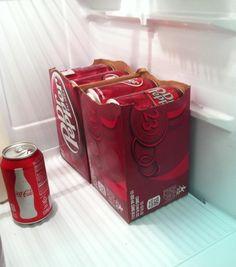 Tear that soda box in half if it doesn't fit in your fridge.
