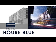 Photoshop Visualization for Architecture [House blue] - YouTube