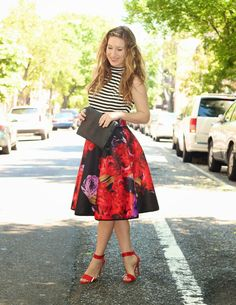 TfDiaries By Megan Zietz: Stripes and Florals