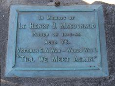 Lieutenant Henry MacDonald, Veteran of South Africa & WW1 - He hoped to carry it [commission] as a New Zealander ought to | Flickr - Photo Sharing!