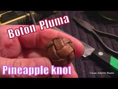 "Botón de 4 ""Pluma""(Pineapple knot) ""El Rincón del Soguero"""