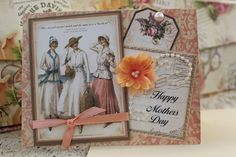 Mothers Day Card Handmade Graphic 45 Paper by HotCocoaPhotoBooks, $4.00