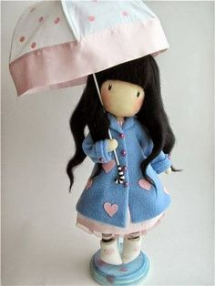 bambola con ombrello - cartamodello
