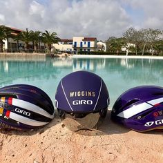 @girocycling sorted us out with some great looking helmets this year. Give them a follow if you haven't already! #WIGGINS