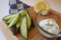 Cooling Snack: Cucumbers With Ranch Greek Yogurt Dip