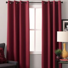 Ultimate Blackout Grommet Top Panel is woven in 3 layers, a tight weave of colored yarns on the front/back, sandwiched around an inner layer of black yarns. Diy Blackout Curtains, Blackout Panels, Yarns, Weave, Layers, Patio, Top, Color, Home Decor