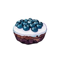 Chocolate brownie with blueberries   by Laura Manfre