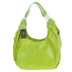 ASIA BELLUCCI Italian Made Orange Leather Shoulder Hobo Bag ...