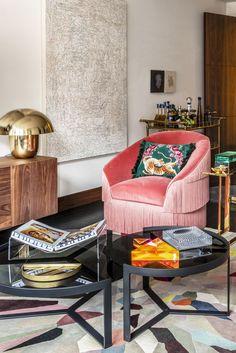 Simple Living Room, Home Living Room, Small Living Rooms, Living Room Decor, Living Spaces, Kitchen Living, Home Design, Design Salon, Interior Design