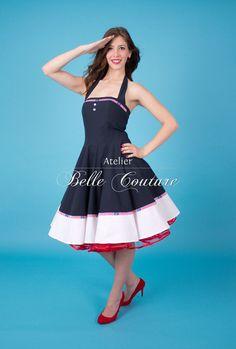 Pinup Sailordress Ahoi. Sailor StyleRockabilly ...