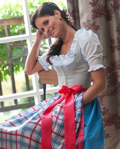 These vibrant hues instantly make me think of Rocket Popsicles :) (outfit by Susanne Spatt F/S 2012). #German #Austrian #folk #costume #dirndl #tracht #dress
