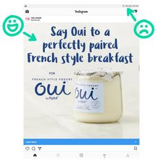 This is my freebie LUDICROUS used in the advertising text for Oui yogurt by Yoplait. Yay for LUDICROUS, boo for needing to charge my phone! Real Simple, Yogurt, Fonts, Advertising, Learning, Sayings, Phone, Instagram, Telephone