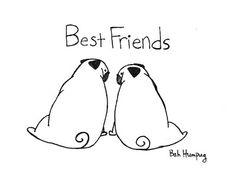 Bah Humpug: Pug Best Friends