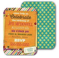 A completely customizable #birthday invitation. Come play in our digital playground! Heritage Makers template 109804