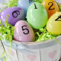 Religious-- Scripture Easter Egg Hunt - put the words to the verse of the week or day in the eggs