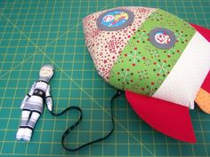 SHARLZNDOLLZ: Rocket and Astronaut softie in this months Patchwork and Stiching Magazine