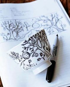 Using an oil based sharpie or porcelain pen to create customised crockery