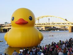 Pittsburgh was Rubber Duck's first U.S. destination.