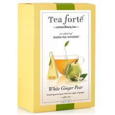 Tea Forte Gourmet Pyramid Box Tea Infusers-White Ginger Pear, 6 ct - http://mygourmetgifts.com/tea-forte-gourmet-pyramid-box-tea-infusers-white-ginger-pear-6-ct/