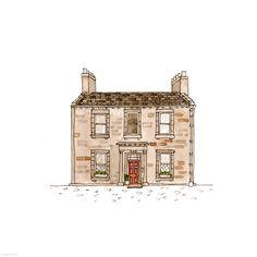 365. My House - the last house  | Rebecca Horne, illustration