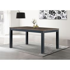 @Overstock.com.com - Heritage Dining Table - Dress up your dining room with this rustic Heritage Dining Table, featuring a weathered washed grey finish. This Heritage table also offers a durable metal frame construction making it an ideal piece for your contemporary home.  http://www.overstock.com/Home-Garden/Heritage-Dining-Table/8035102/product.html?CID=214117 CAD              807.38
