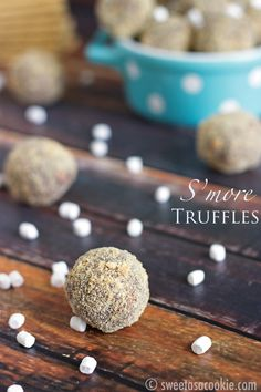 S'more Truffles via sweetasacookie.com. The perfect summer treat!