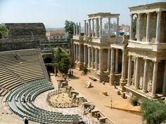 via-appia:   Roman Theatre, Mérida, Spain  Built... | MYTHOLOGER