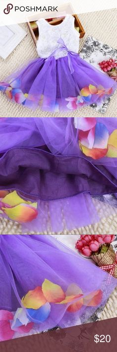 🆕💜Purple Tutu Pearly Lace Flower Dress💜 ❣️Great Quality Clothing❣️ 🎀Have A Question¿ Please Feel Free To Ask Me 🎀 ⛱I'm Open To Reasonable Offers⛱ 🍭No Trades 🍭💕Brand Listed For Exposure 💕 Osh Kosh Dresses
