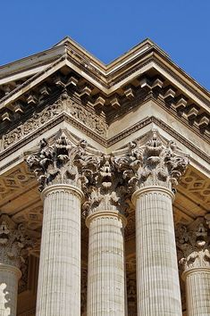 The richly detailed Corinthian order