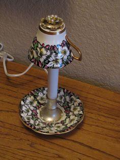 Rosina Tea Cup Lamp, by Carolyn. $27.00, via Etsy.