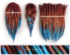 "Wool dreadlocks ""rusty turquoise"" | ready for shipping in 2-3 days | 40 DE #woolies #wooldreadlocks #wooldreads #dreadlocks #dreads  #dreadehtensions #tribal #african #ethno"