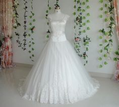 Wedding Dress Fantasy - Vintage Inspired Wedding Dress- Available in Every Color 15, $679.00 (http://www.weddingdressfantasy.com/vintage-inspired-wedding-dress-available-in-every-color-15-1/)