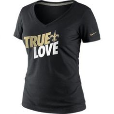 56aa458c3543d Saints Women s True Love Tee by Nike  Saints  Nike Broncos T Shirts