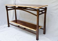 Floating Top Sofa Table with floating shelf