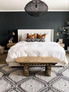 Couple Bedroom, Home Decor Bedroom, Dark Furniture Bedroom, Classic Bedroom Decor, 70s Bedroom, Cozy Bedroom, Design Bedroom, Coziest Bedroom, Apartment Master Bedroom