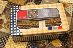 Frivols Collectible Tins by Moda Fabrics  No. 3  Eliza's Indigo by Betsy Chutchian